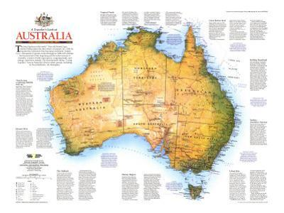 1988 Travelers Look At Australia Map by National Geographic Maps