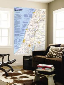 1989 Special Places of the World, Holy Land Map by National Geographic Maps