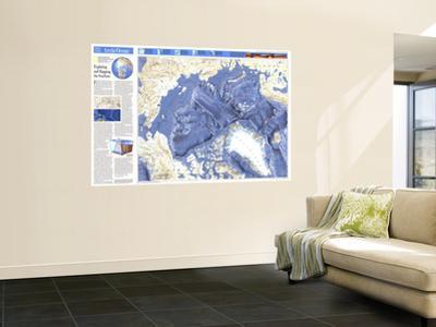1990 World Ocean Floors, Arctic Ocean Map