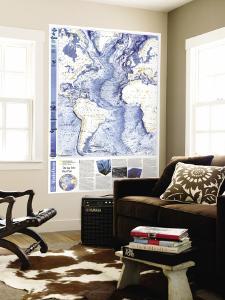1990 World Ocean Floors, Atlantic Ocean Map by National Geographic Maps