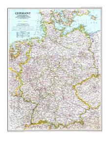 1991 Germany Map by National Geographic Maps