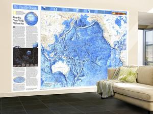 1992 Pacific Ocean Map by National Geographic Maps