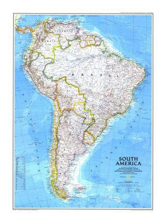 Maps of South America artwork for sale Posters and Prints at Artcom