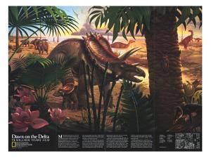 Beautiful Dinosaur Charts giclee-prints artwork for sale