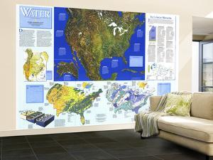 1993 Water Precious Resource Map by National Geographic Maps