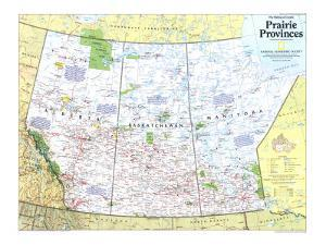 1994 Making of Canada, Prairie Provinces Map by National Geographic Maps
