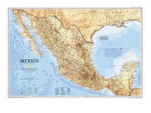 1994 Mexico Map by National Geographic Maps