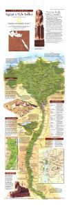 1995 Egypts Nile Valley North Map by National Geographic Maps