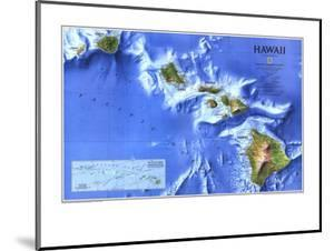 1995 Hawaii Map by National Geographic Maps