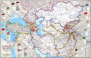1999 Caspian Region, Promise and Peril by National Geographic Maps