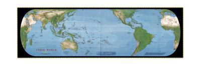 2000 Coral World Map by National Geographic Maps