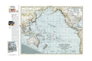 2001 Pacific Ocean Theater of War 1942 Map by National Geographic Maps