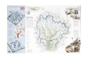 2003 Everest 50 by National Geographic Maps
