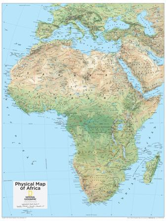 2014 Africa Physical - National Geographic Atlas of the World, 10th Edition