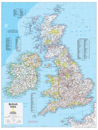 2014 British Isles - National Geographic Atlas of the World, 10th Edition