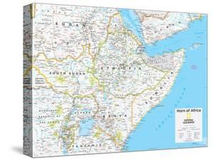 Maps of africa canvas artwork for sale posters and prints at art 2014 horn of africa national geographic atlas of the world 10th edition gumiabroncs Images