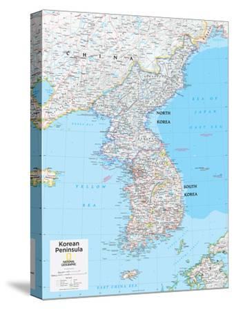 2014 Korean Peninsula - National Geographic Atlas of the World, 10th Edition