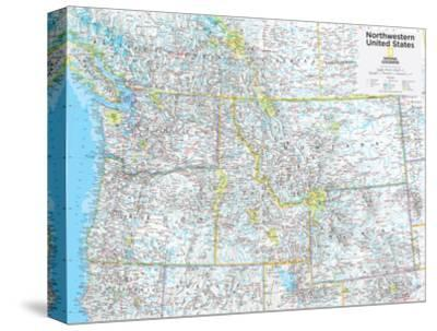 North Western Us Map.Beautiful Maps Of North America Natl Geo Stretched Canvas Prints