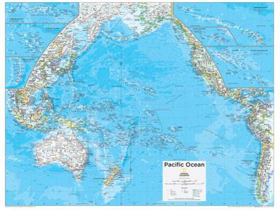 2014 Pacific Ocean Political - National Geographic Atlas of the World, 10th Edition by National Geographic Maps