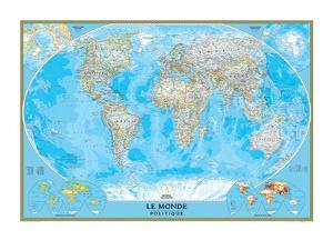 World maps artwork for sale posters and prints at art french classic world mapnational geographic maps gumiabroncs Images
