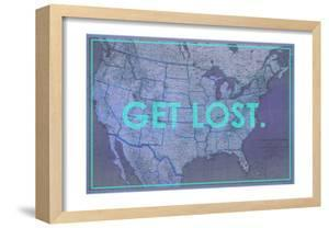 Get Lost - 1933 United States of America Map by National Geographic Maps