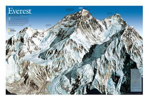 Mt. Everest Map by National Geographic Maps