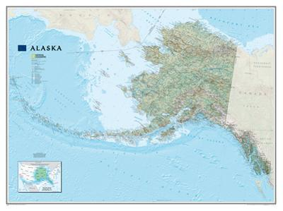 National Geographic - Alaska Map Laminated Poster by National Geographic Maps
