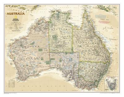 National Geographic - Australia Executive Map Laminated Poster by National Geographic Maps