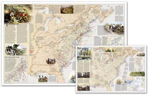 National Geographic - Battles of the Revolutionary War and War of 1812 Map, Two-Sided Laminated Pos by National Geographic Maps