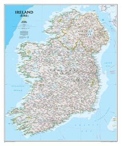National Geographic - Ireland Classic Map Laminated Poster by National Geographic Maps