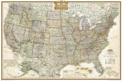 National Geographic - United States Executive, poster size Map Laminated Poster by National Geographic Maps