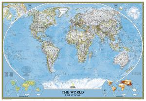 National Geographic - World Classic Map, Enlarged & Laminated Poster by National Geographic Maps
