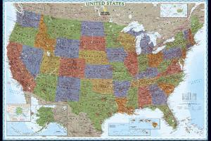Beautiful Maps of the United States artwork for sale, Posters and ...
