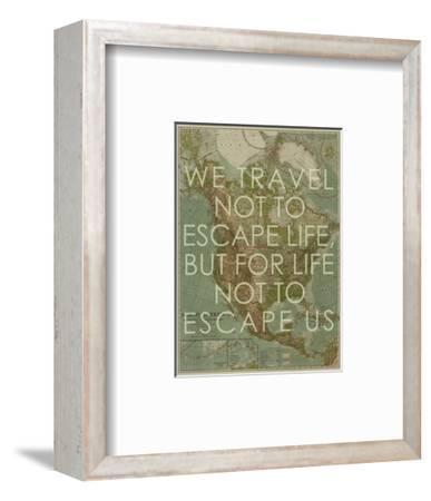 We Travel Not to Escape Life, but for Life not to Escape Us - 1924 North America Map