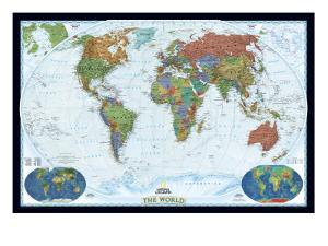 World Political Map, Decorator Style by National Geographic Maps