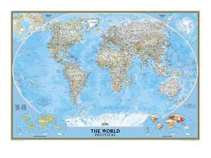 World Political Map by National Geographic Maps