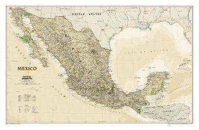 National Geographic - Mexico Executive Map Laminated Poster-National Geographic-Laminated Poster