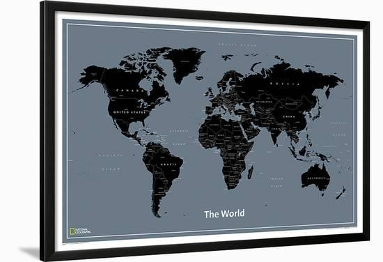 National Geographic Modern World Map Lamina Framed Poster by ... on
