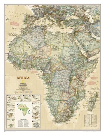 National Geographic - Africa Executive Map Laminated Poster