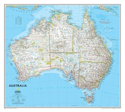 Maps of Australia Posters and Prints at Artcom