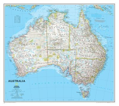 National Geographic - Australia Classic Map Laminated Poster by National Geographic
