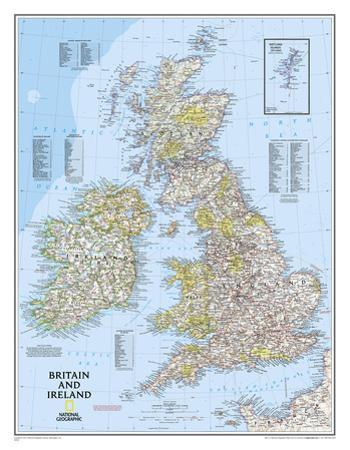National Geographic - Britain and Ireland Classic Map Laminated Poster by National Geographic