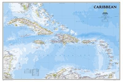 National Geographic - Caribbean Classic Map Laminated Poster by National Geographic
