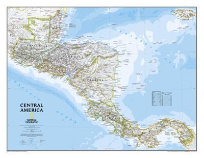 National Geographic - Central America Classic Map Laminated Poster