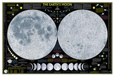 National Geographic - Earth's Moon Map Laminated Poster by National Geographic