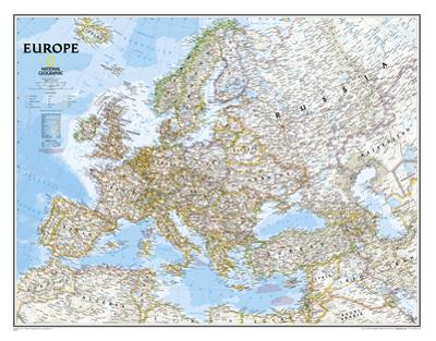 National Geographic - Europe Classic Map Laminated Poster by National Geographic