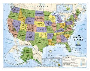Beautiful laminated posters artwork for sale posters and prints national geographic kids political usa education map grades 4 12 giant laminated poster gumiabroncs Gallery