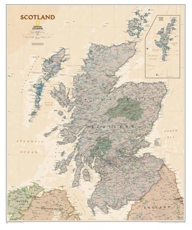 National Geographic - Scotland Executive Map Laminated Poster by National Geographic