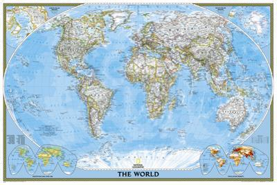National Geographic - World Classic, poster size Map Laminated Poster by National Geographic