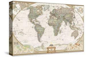 World maps canvas artwork for sale posters and prints at art national geographic world executive map laminated poster gumiabroncs Image collections
